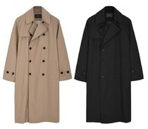 FLARE UP Trench Casual Style Unisex Street Style Trench Coats 16