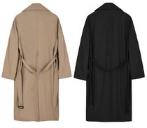 FLARE UP Trench Casual Style Unisex Street Style Trench Coats 17
