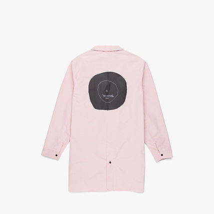 Unisex Collaboration Long Logo Trench Coats