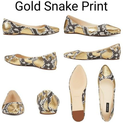 Glen Patterns Platform Casual Style Plain Leather Python
