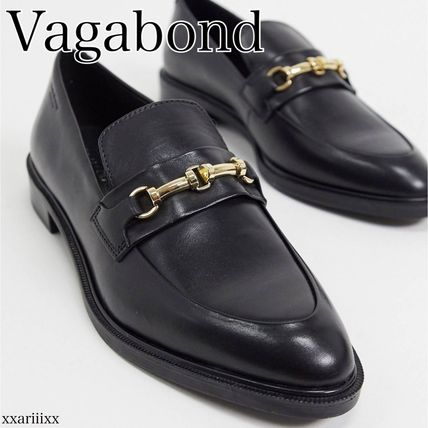 Platform Plain Toe Casual Style Plain Leather Office Style