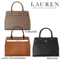 Ralph Lauren Casual Style 2WAY Plain Leather Party Style Office Style