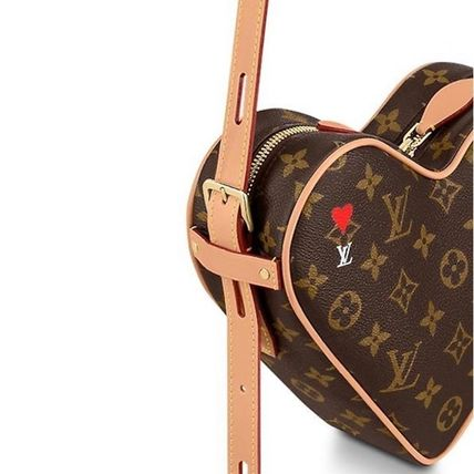 Louis Vuitton MONOGRAM Heart Monogram Casual Style Canvas Leather Party Style