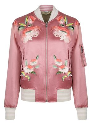 GUCCI Logo Short Flower Patterns Street Style Souvenir Jackets