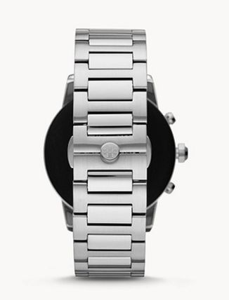 Tory Burch Round Stainless Digital Watches