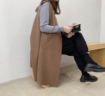 Casual Style Unisex Wool Street Style Plain Long Party Style