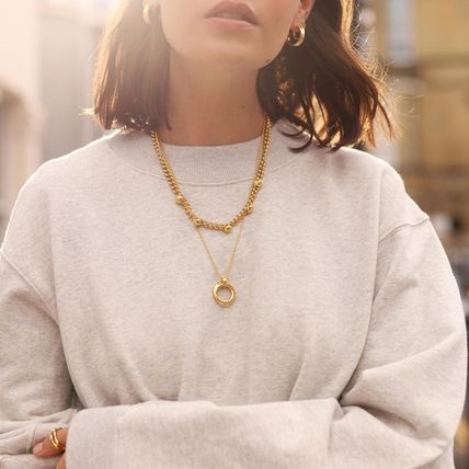 Costume Jewelry Casual Style Chain Brass 18K Gold