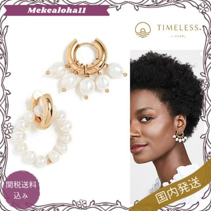 TIMELESS PEARLY Earrings Party Style Brass Elegant Style Asymmetry Earrings