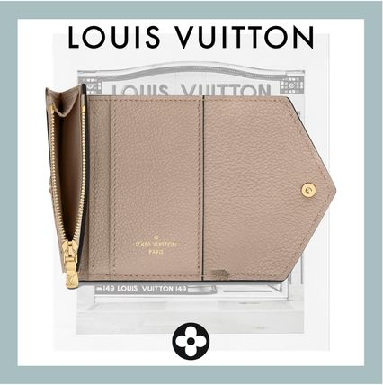 Louis Vuitton ZOE Unisex Leather Folding Wallet Small Wallet Logo
