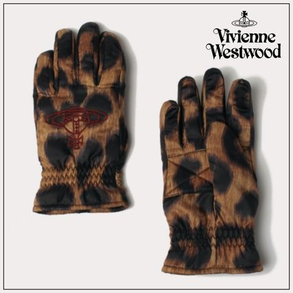 Vivienne Westwood Logo Leopard Patterns Gloves Gloves