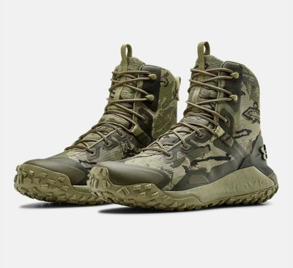 UNDER ARMOUR Camouflage Plain Toe Mountain Boots Unisex Blended Fabrics
