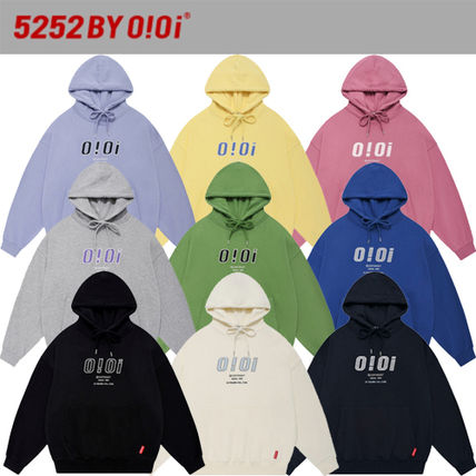 oioi korea Street Style Long Sleeves Logo Hoodies & Sweatshirts