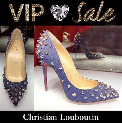 Christian Louboutin Casual Style Studded Pin Heels Party Style Office Style