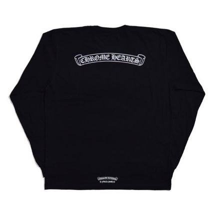 CHROME HEARTS Pullovers Unisex Street Style Long Sleeves Cotton
