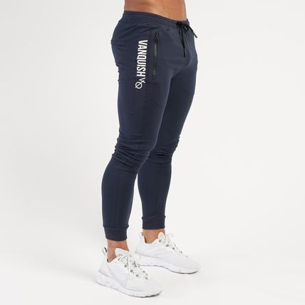 VANQUISH FITNESS Logo Tapered Pants Sweat Street Style Tapered Pants