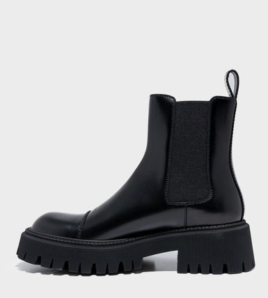 BALENCIAGA Street Style Leather Chelsea Boots Chelsea Boots
