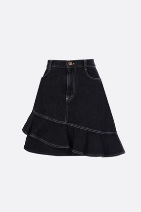 Short Denim Asymmetry Mini Skirts