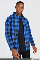 boohoo Shirts Button-down Other Plaid Patterns Street Style Long Sleeves 5