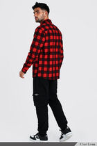 boohoo Shirts Button-down Other Plaid Patterns Street Style Long Sleeves 9
