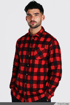 boohoo Shirts Button-down Other Plaid Patterns Street Style Long Sleeves 12