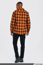 boohoo Shirts Button-down Other Plaid Patterns Street Style Long Sleeves 13
