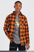 boohoo Shirts Button-down Other Plaid Patterns Street Style Long Sleeves 15