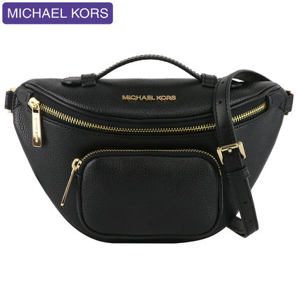 Michael Kors 2WAY Plain Leather Crossbody Hip Packs