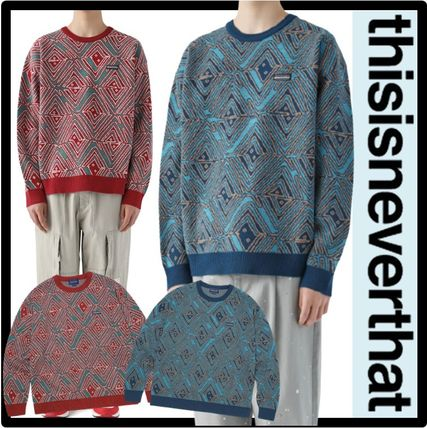 thisisneverthat Unisex Street Style Sweaters