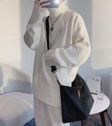 Sweaters Pullovers Street Style Long Sleeves Plain Oversized Sweaters 18
