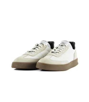 Suede Studded Street Style Plain Leather Logo Sneakers