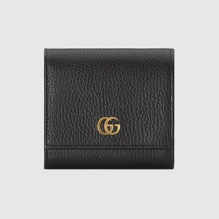 GUCCI GG Marmont Leather Folding Wallet Long Wallet  Small Wallet Logo