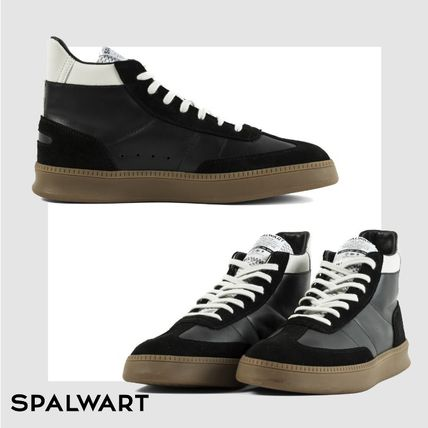 SPALWART Sneakers Suede Studded Street Style Plain Leather Logo Sneakers