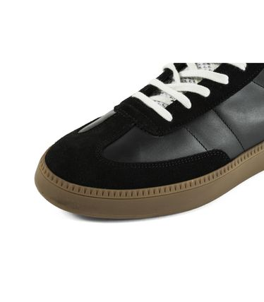 SPALWART Sneakers Suede Studded Street Style Plain Leather Logo Sneakers 3