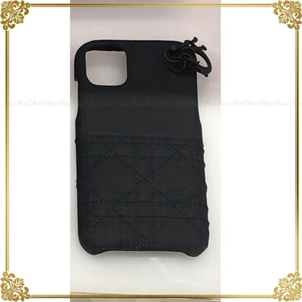 Christian Dior LADY DIOR Leather iPhone 11 Smart Phone Cases