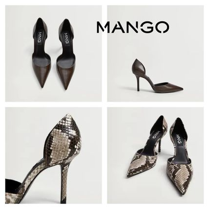 Casual Style Pin Heels Party Style Python Elegant Style