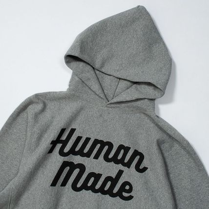HUMAN MADE Pullovers Street Style Long Sleeves Plain Cotton Logo
