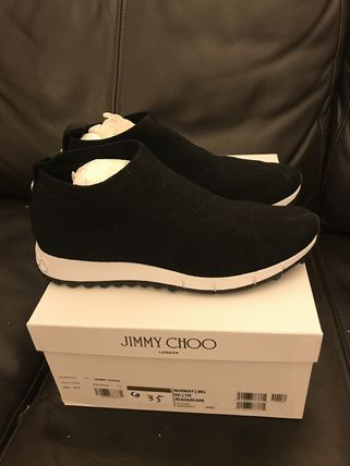 Jimmy Choo Star Plain Toe Rubber Sole Casual Style Street Style Logo