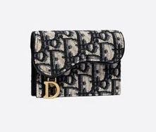 Christian Dior Canvas Logo Card Holders