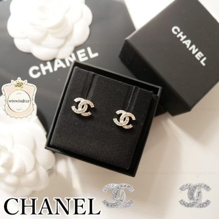 CHANEL Casual Style Office Style Earrings