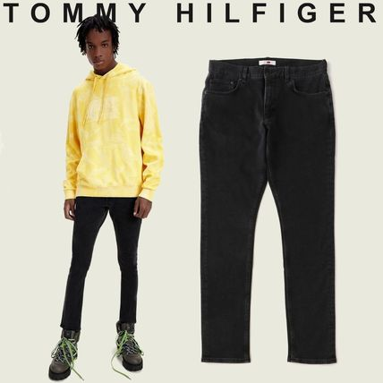 Tommy Hilfiger More Jeans Unisex Blended Fabrics Street Style Collaboration Plain