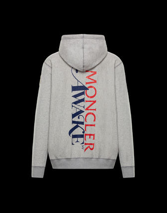 MONCLER Hoodies Unisex Nylon Street Style Collaboration Long Sleeves Logo 4