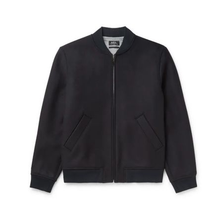 A.P.C. Short Wool Plain MA-1 Bomber Jackets