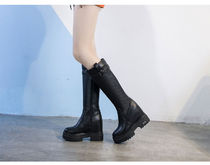 Wedge Platform Casual Style Suede Plain Wedge Boots