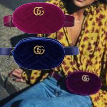 GUCCI GG Marmont Casual Style Elegant Style Crossbody Logo Hip Packs