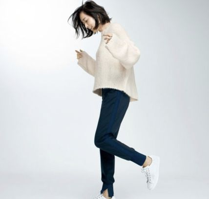 Casual Style Office Style Elegant Style Pants