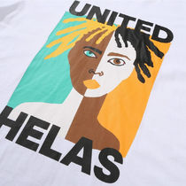 HELAS More T-Shirts Unisex Street Style Cotton Short Sleeves Logo Skater Style 6