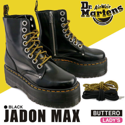 Dr Martens JADON Platform Lace-up Casual Style Plain Leather Lace-up Boots