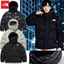 THE NORTH FACE FREE MOVE Short Unisex Street Style Logo Down Jackets
