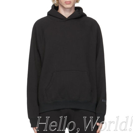 FEAR OF GOD ESSENTIALS Unisex Sweat Street Style Plain Logo Hoodies