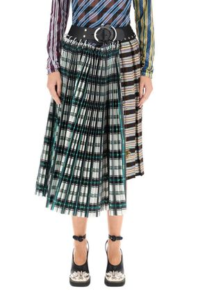 Flared Skirts Flower Patterns Casual Style Long Maxi Skirts